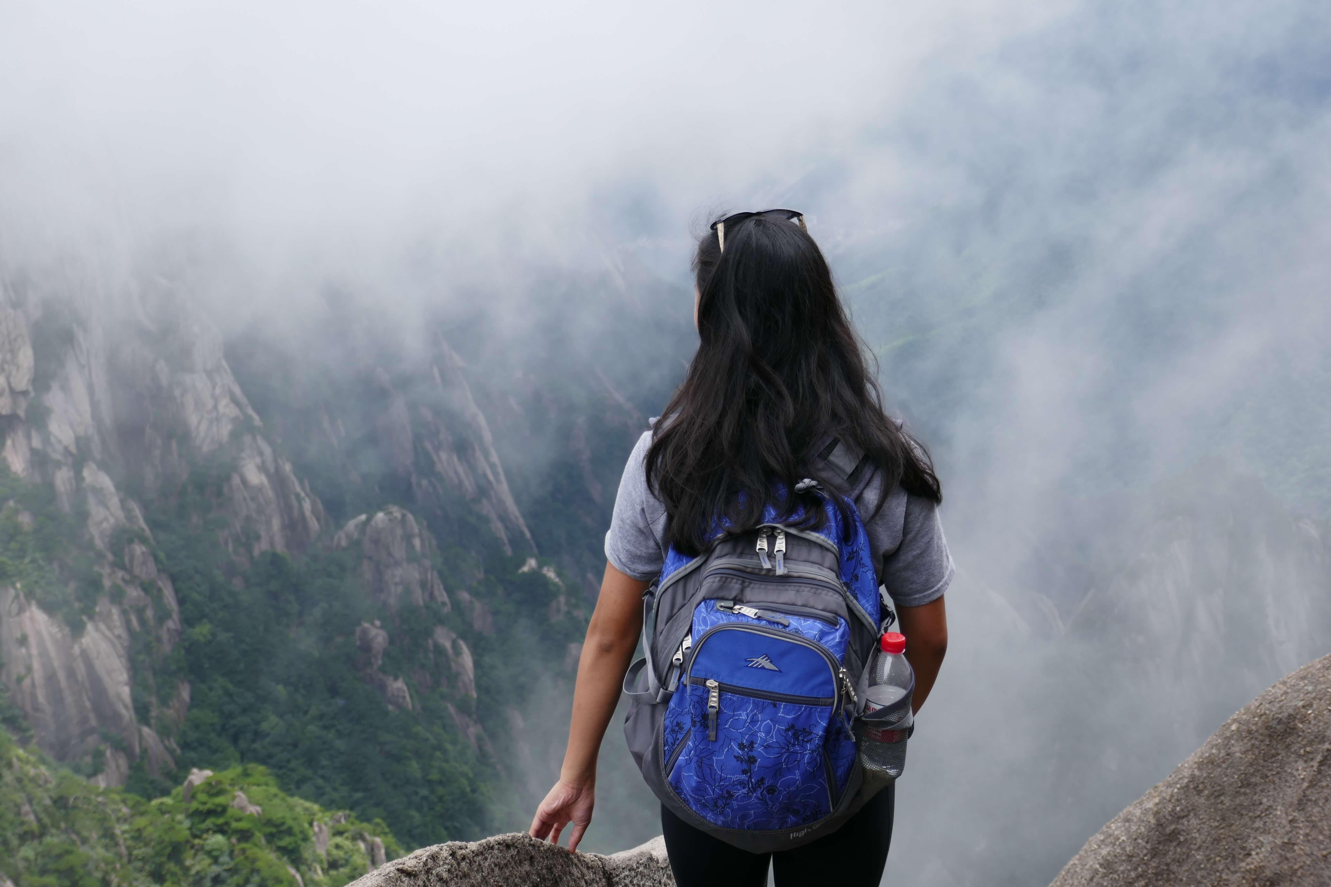 Rebecca at Huang Shan